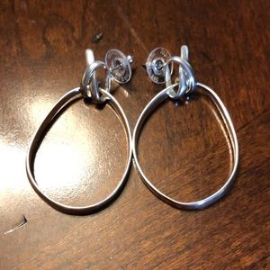 EUC silver Stella & Dot earrings